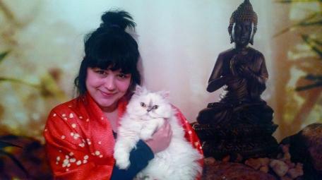 Coco ve ben, reiki odamızda :)
