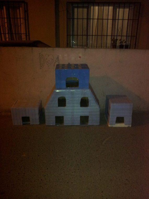 Bastet Tasarım farklı boyutlarda kedi evleri